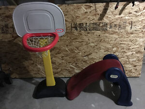 Little Tikes ball hoop and slide for sale