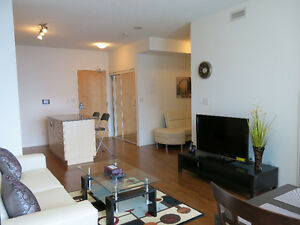 Oct 3: Furnished 1 Bed + Den Downtown @ Maple Leaf Sq - Union