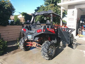 Package deal, Polaris rzr xp 900,8x12 flat deck trailer