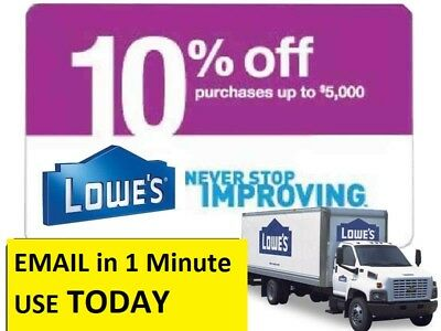 THREE (3x) Lowes 10% Off Discount- Lowe