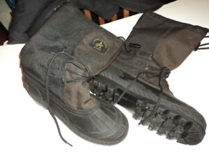Men snow boots.  (snowmobile type boots)