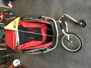 MEC Double Bike Wagon with Jogger attachment
