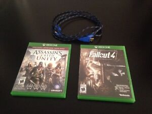 Xbox One games + free scuf charging cable