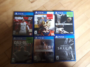 PS4, 6 games, 2 controllers, 1 head set