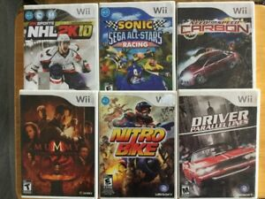Sonic All Stars Racing, Need for Speed Carbon, NHL2K10…