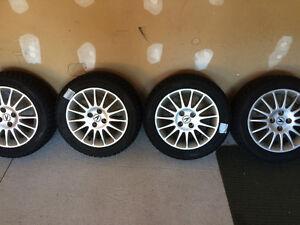 Set of 4 Hankook Winter Tires. 155.55.R15 On Premium Rims Cambridge Kitchener Area image 2