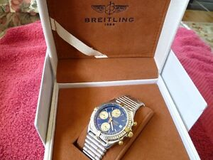 "RARE BREITLING ""CHRONOMAT BICOLO"" 2 TONE WITH 2 TONE BULLET BAND"