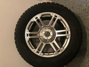 WINTER TIRES NEW CONDITION RAM 2500 tires 285 60 r20 /  4 MAGS