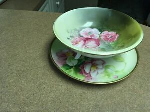 Old Abby plate, matching bowl