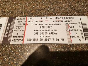 Bon Jovi -Section 103 Row 4 - seats 5&6 -$300US