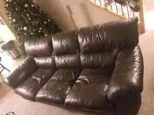 100% genuine leather couch