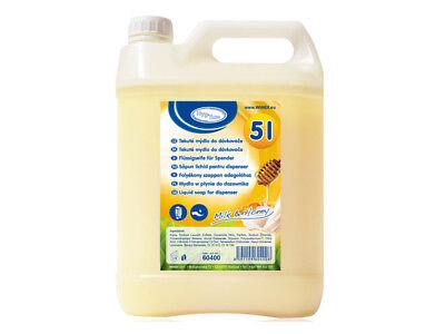 1 Kanister Flüssigseife 5 l Milch & Honig Seife Handseife (60400)