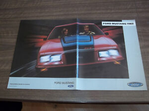 BROCHURE AUTO FORD MUSTANG  ( 1983 )