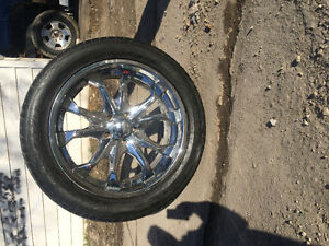 22 inch tire and rims for sale