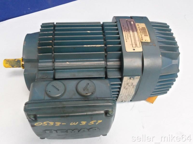MANNESMANN DEMAG KBA71PHASE 3 B6 FRAME 220/380 VOLTS 0.56 HP BRAKE MOTOR, *PZF*