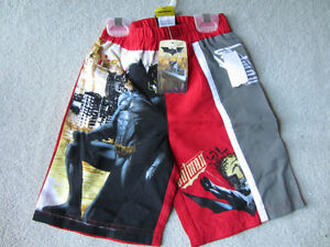 BRAND NEW - BATMAN SWIM TRUNKS - SIZE 4