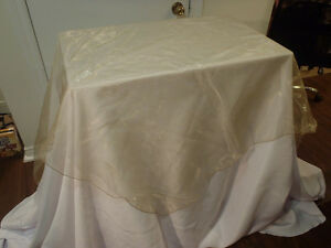 Tablecloth overlays - champagne organza x25