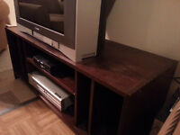 Antique Dark Stain Wood TV Stand FOR SALE