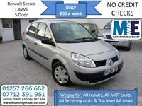 **£35 A WEEK** Renault Scenic 1.4 Authentique, 12M MOT, 5DR MPV, EW CD RCL