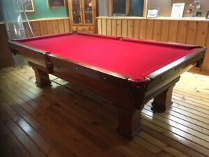 Antique slate pool table
