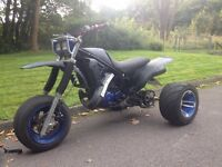 ROAD LEGAL Yamaha Tri Z 250 Trike Rare , Iconic