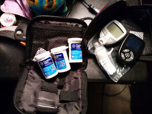 Glucose meters with strips