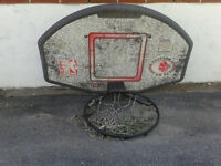 Basketball net and back board