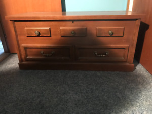 Cedar chest made of quality hardwood.