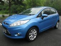 10/10 FORD FIESTA ZETEC 1.4 TDCI 5DR HATCH IN MET BLUE WITH ONLY 64,000 MILES