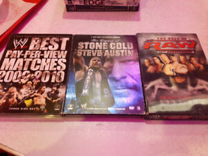 12 WWE DVD's  for sale