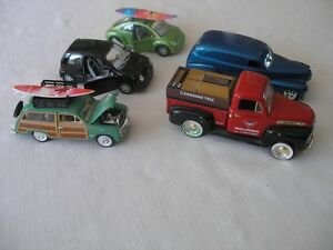 Trucks and cars