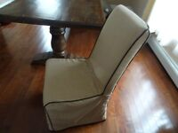 Modern Formal /Dining table chairs with cover inc great quality