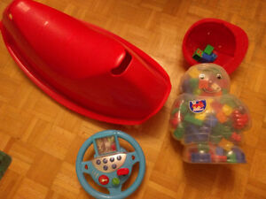 Ride On Car- Jet, SHIP, Magnet set$25. Floor -Swing, Megablocks