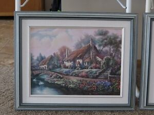 3 Piece Framed Art purchased from Art Gallery Strathcona County Edmonton Area image 3