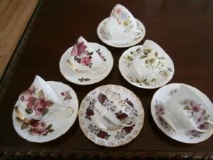 SIX NICE FLORAL CUP AND SAUCER SETS