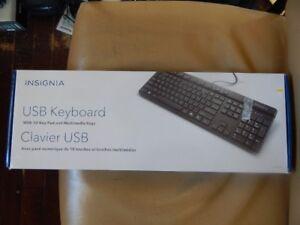 BRAND NEW INSIGNIA USB WIRED KEYBOARD.