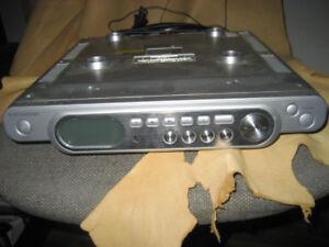 Under cabinet TV/Radio