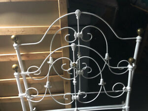"""Cast Iron Bed - 41"""" width with rails"""
