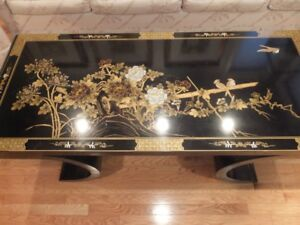 A DECORATED CHINESE COFFEE TABLE