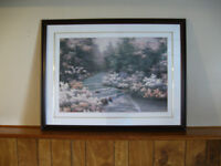 LARGE FRAMED RIVER CASCADE PRINT BY DEANE ROMANELLO (REDUCED)