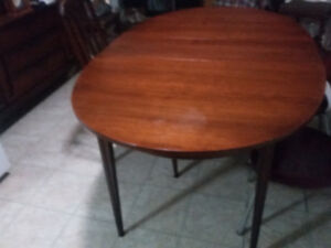 Old Solid Wood Dining Table