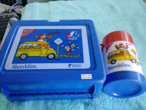 Montreal Expos lunch box and thermos