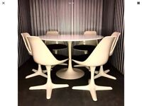 Retro Arkana 'Tulip' Dining Table And Six Chairs