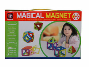 20 pcs Magical Magnet Toys. Set Magnets Like Magformers