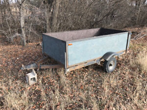 52x100inch Utility Trailer. Solid steel frame, haul it all !