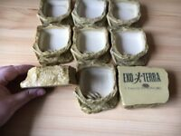 9 small Exo Terra Reptile water / food dishes