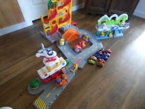 Mattel Little People Toys- Airport - Garage - Post Office - Cars