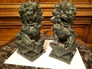 Fu Dog soapstone book ends