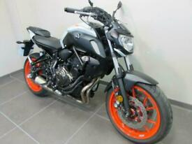 YAMAHA MT-07, 19 REG 10673 MILES, ICE FLUO COLOUR WITH HEATED GRIPS FITTED...