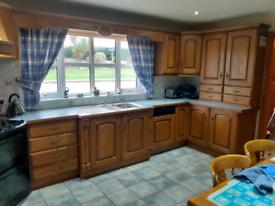 Solid oak kitchen